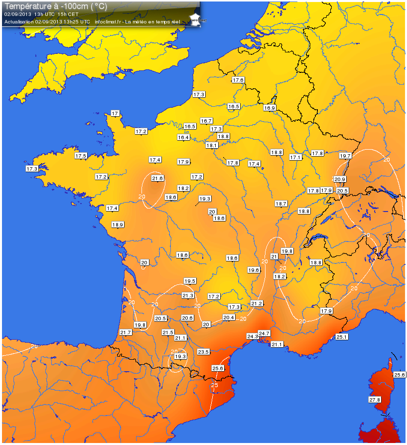 cartes temps reel infoclimat