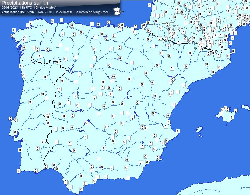mapa de los frentes atlánticos