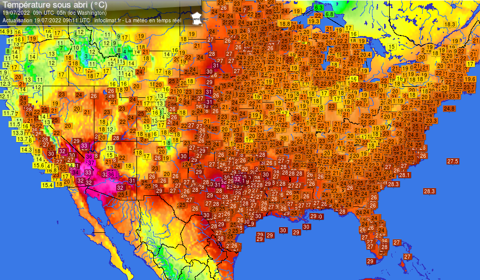 TEMPERATURES ETATS-UNIS