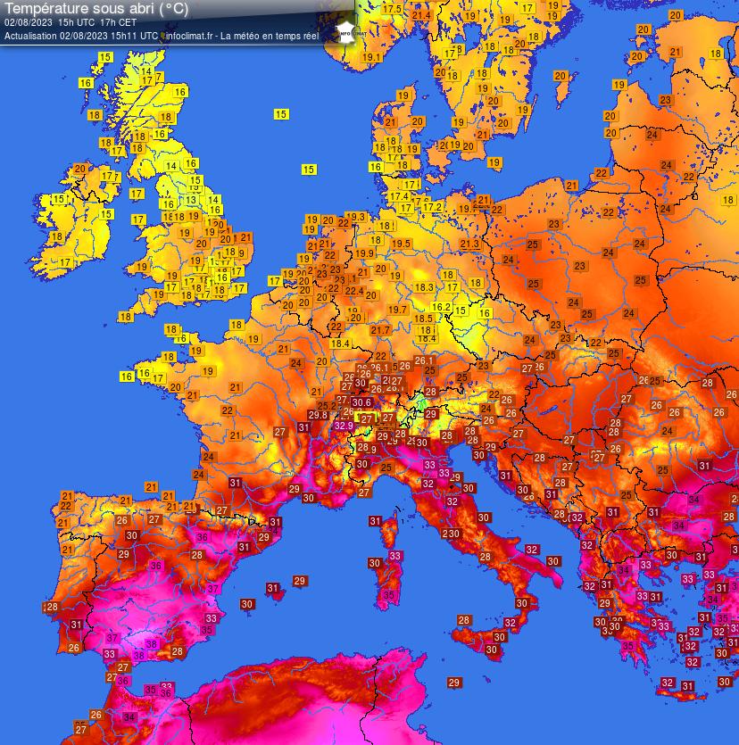 temperatuur europa
