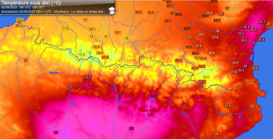 température Pyrénées