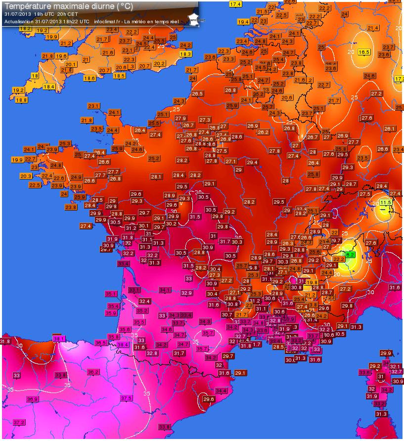 Image d'illustration pour Suivi de la vague de chaleur