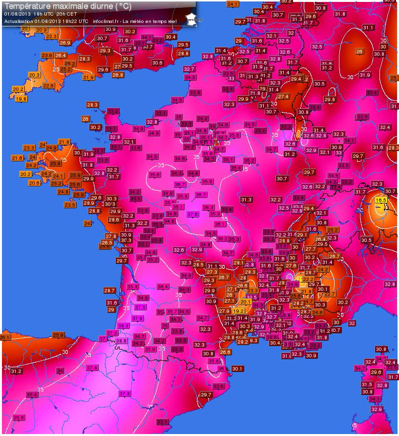 Image d'illustration pour Suivi de la vague de chaleur - jours les plus chauds